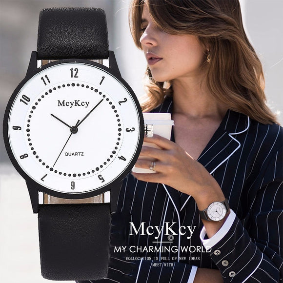 McyKcy Women Famous Watch Casual Fashion Women' s Simple Quartz Watch Ladies Wristwatches Female Clock Relogio Feminino