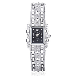 Luxury Silver Bracelet Wrist Watch Fashion