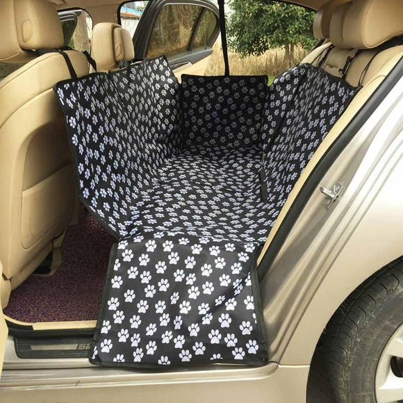 Paw Pattern Fabric Car Pet Seat Covers