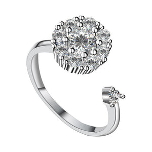 Rotating Ring Zircon Ring Diamond Ring Jewelry