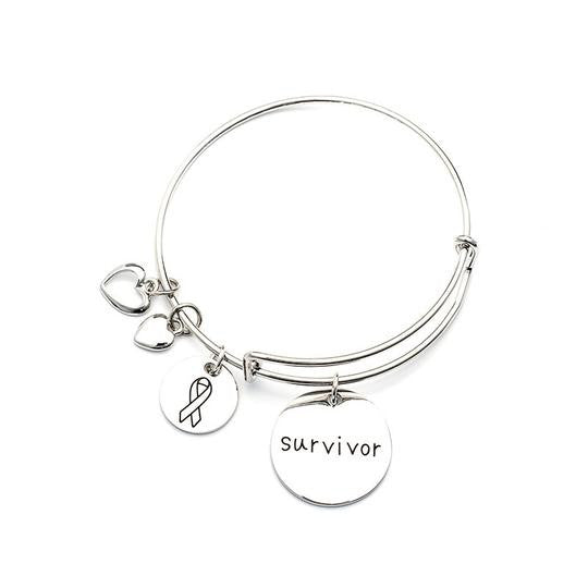 Original Survivor Charm Bangle Women