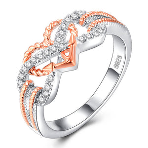 Heart Jewelry Rings Fashion Crystal Women