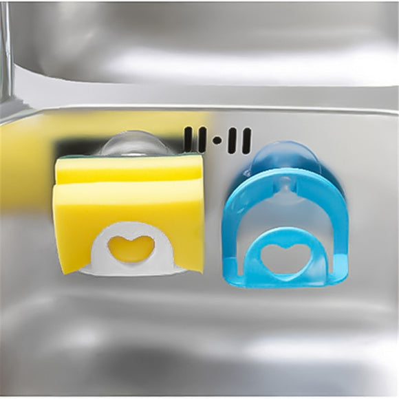 Kitchen Sink Suction Sponges Holder Scrubbers