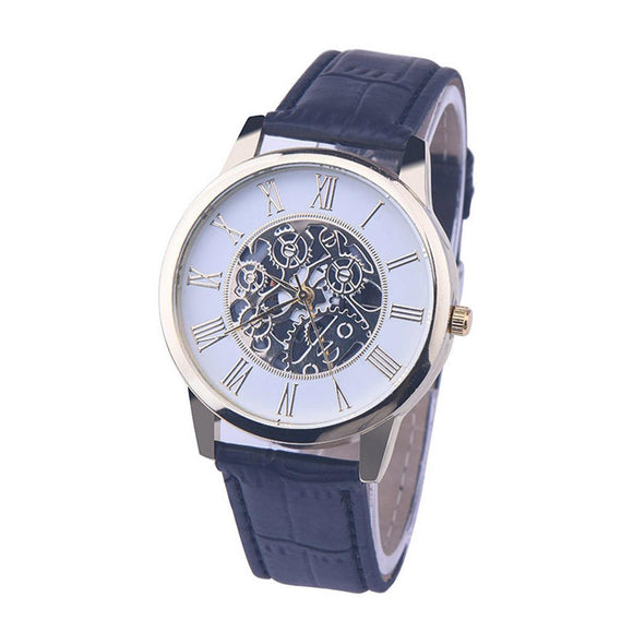 Quartz Watch Band Men Fashion Leather Wrist