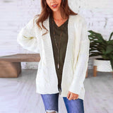 Women's Long Sleeve Knitwear Open Front