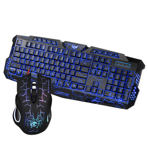 Keyboard Mouse Combo Colorful Adjustable LED