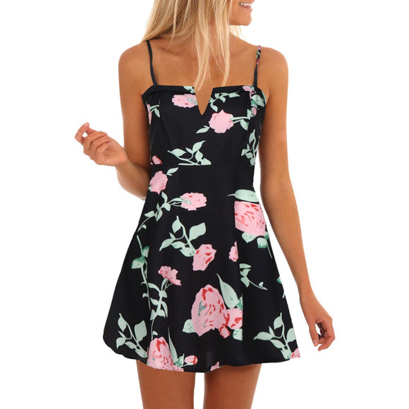Women's Casual Sleeveless Printed Floral
