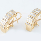 14kt Diamond Yellow Gold Earrings 2.10ct