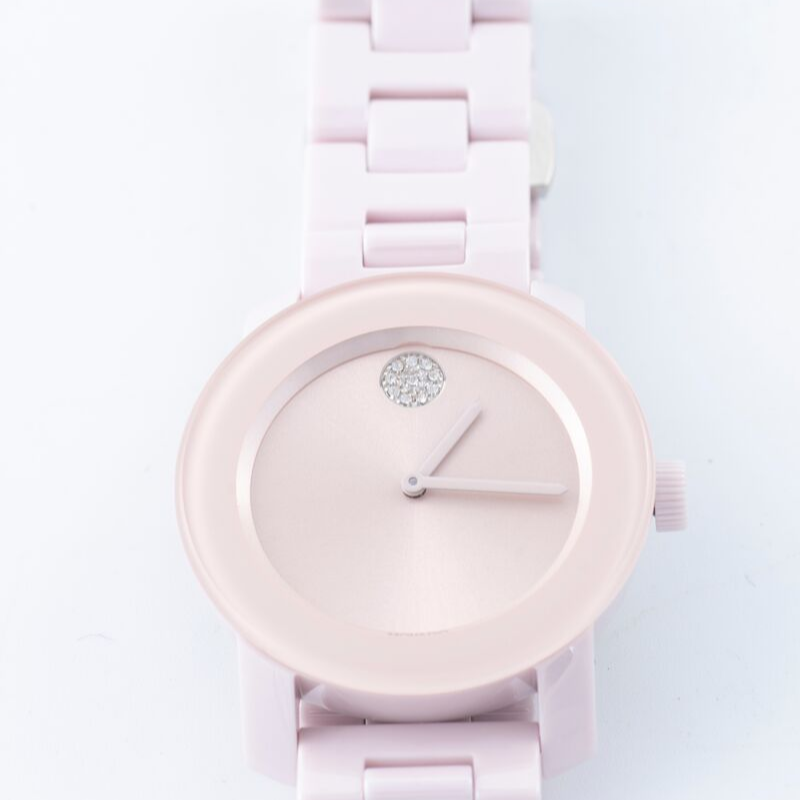 Blush Ceramic Movado Bold Womens Watch