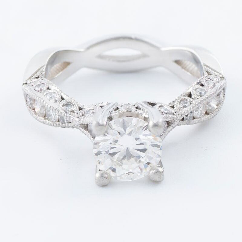 18kt Diamond & White Gold Ring .21ct