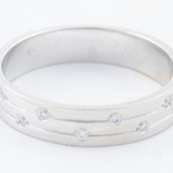 14kt White Gold and Diamond Simple Band