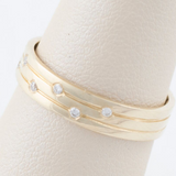 14kt Yellow Gold and Diamond Simple Band