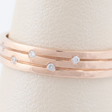 14kt Rose Gold and Diamond Simple Band