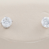 14kt White Gold Diamond Studs Colorless & VS Clarity Stones