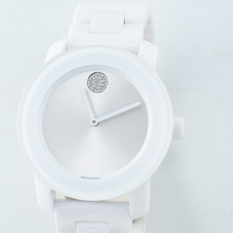 White Ceramic Movado Bold Womens Watch