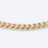 Mens Gold 14kt Solid Cuban Link Chain
