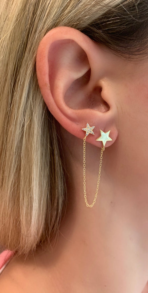 Doble star earring