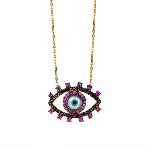 Kaya Pink Eye Necklace