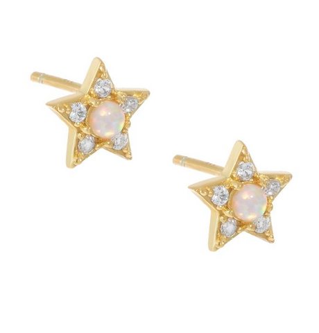Moon Stone Star stud