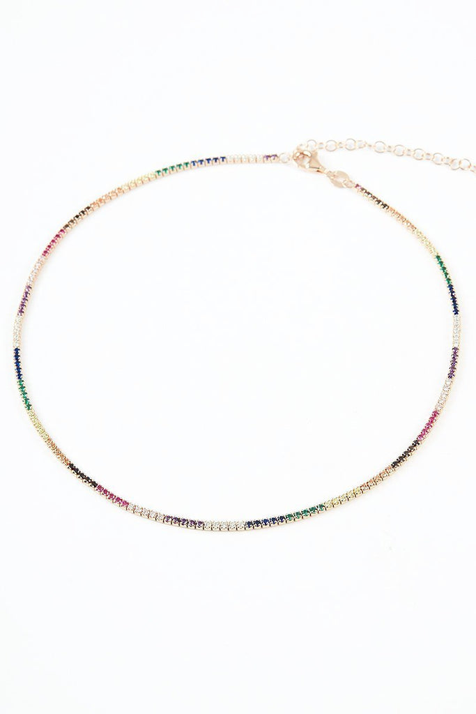 Dash Multicolor Tennis choker