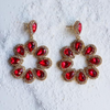 Ibiza earrings red - Statement jewellery by Radiant Riviera