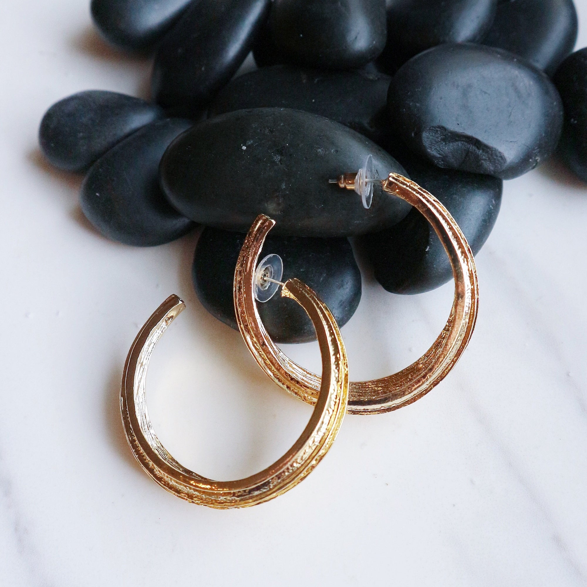 90's Gold Hoops - Statement jewellery by Radiant Riviera