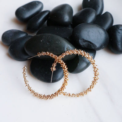 Textured Hoops - Statement jewellery by Radiant Riviera