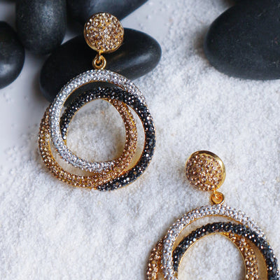 Antibes Earrings - Statement jewellery by Radiant Riviera
