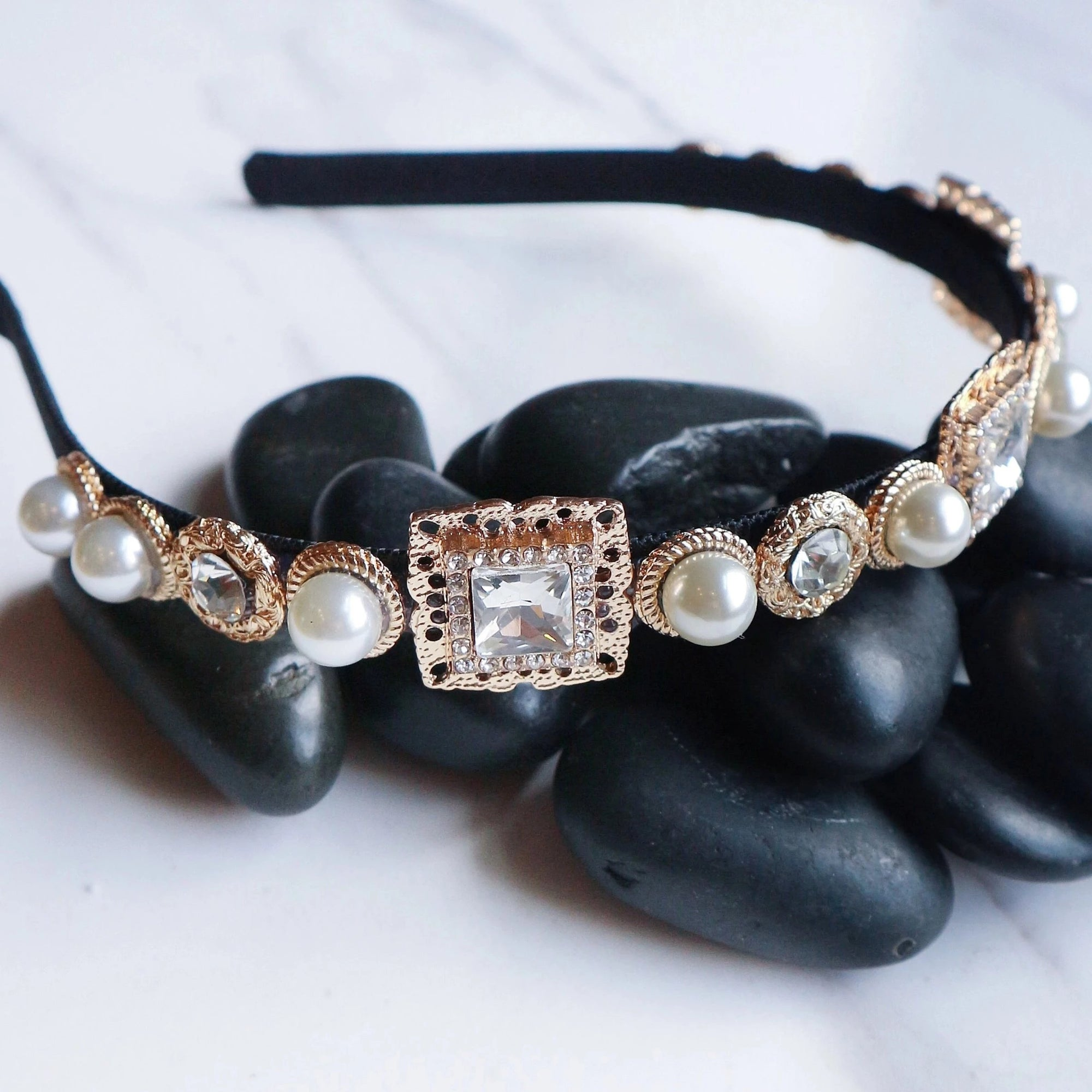 Amber - Clear Diamond - Statement jewellery by Radiant Riviera