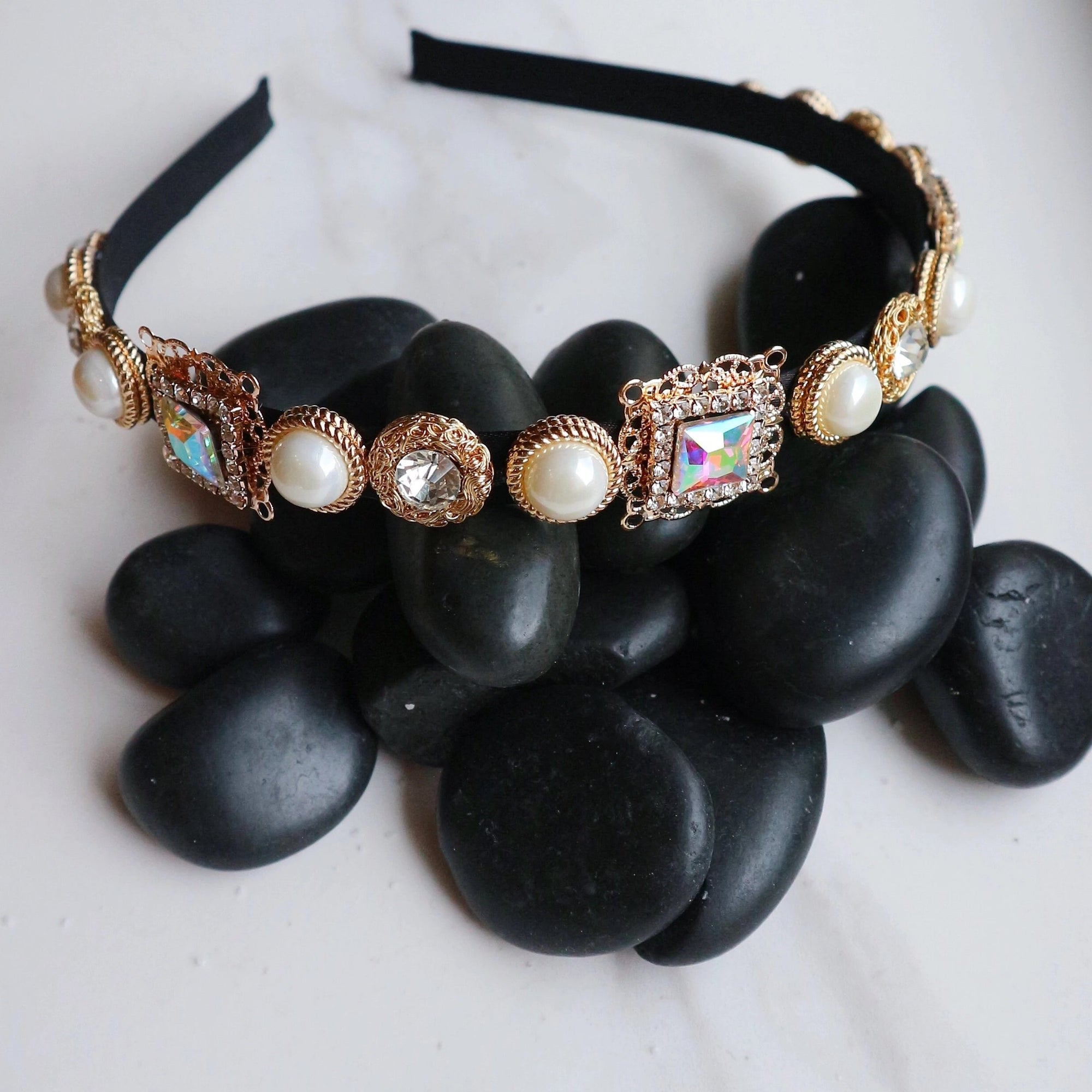 Amber Headband- Gemstone - Statement jewellery by Radiant Riviera