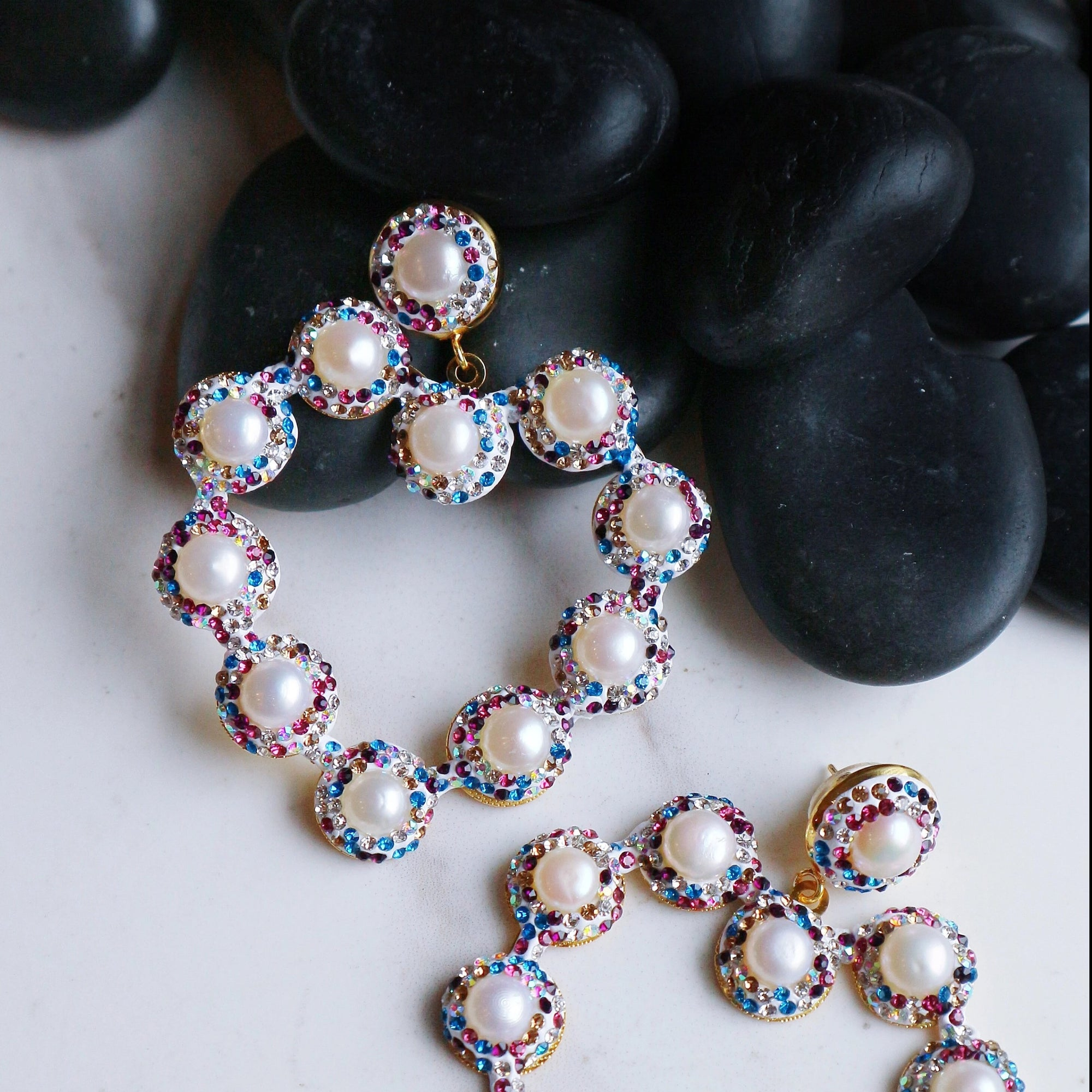 Rainbow Heart - Statement jewellery by Radiant Riviera