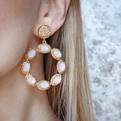 Sunset Earrings- Pink - Statement jewellery by Radiant Riviera