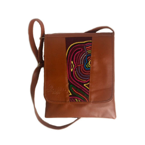Medium Mola Purse Light Brown