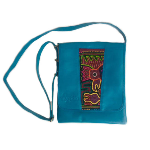 Medium Mola Purse Turquoise
