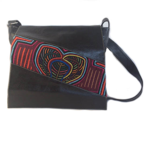 Mola Messenger Bag in Black