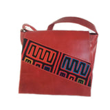 Mola Messenger Bag in Red