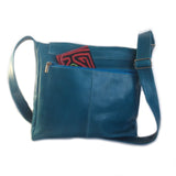 Mola Messenger Bag in Turquoise