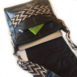 Wayuu Messenger Bag in Black