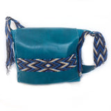 Wayuu Messenger Bag in Turquoise
