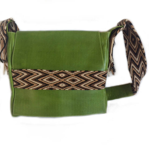 Wayuu Messenger Bag in Green
