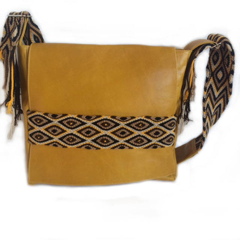 Wayuu Messenger Bag in Mustard