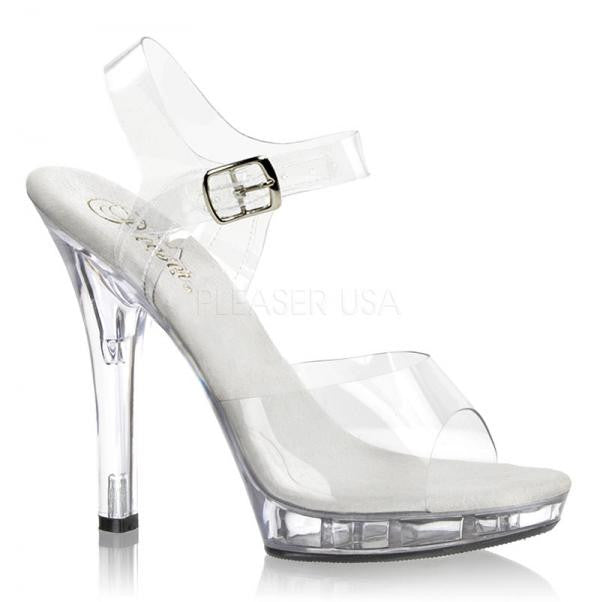 PLEASER LIP 108 CLEAR HEELS SIZE UK 2 BNIB - Selina Bikini