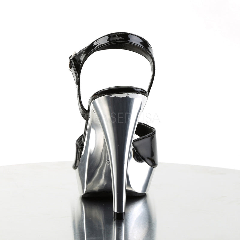 PLEASER COCKTAIL 509 Blk/Slv Chrome HEELS - Selina Bikini