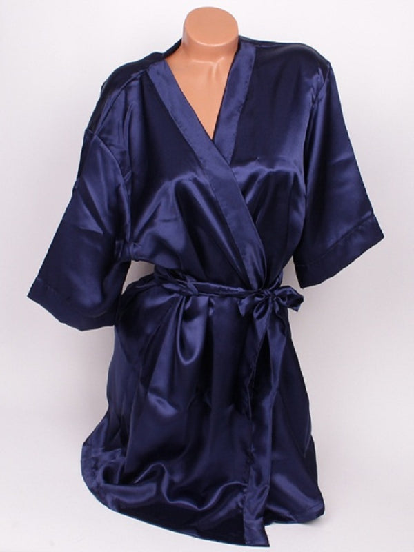 CUSTOM TEXT Midnight BLUE SATIN Competition Robe Gown - Selina Bikini