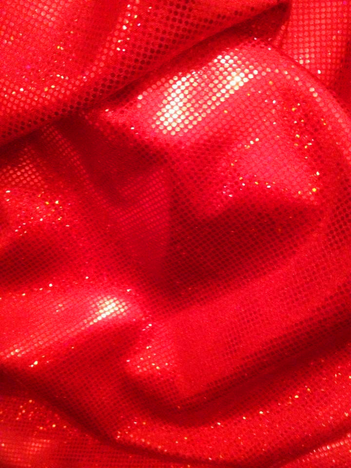 #80 Red Hologram Metallic Spandex - Selina Bikini