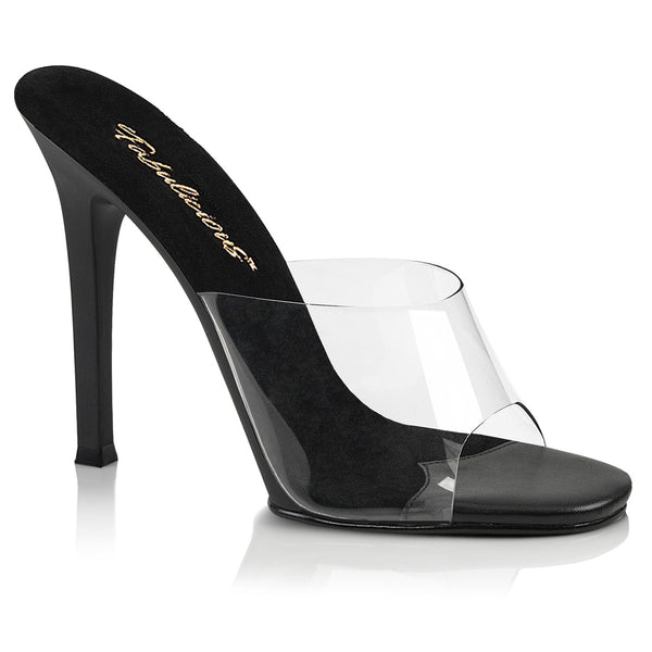 PLEASER GALA 01 CLEAR AND BLACK HEELS - Selina Bikini