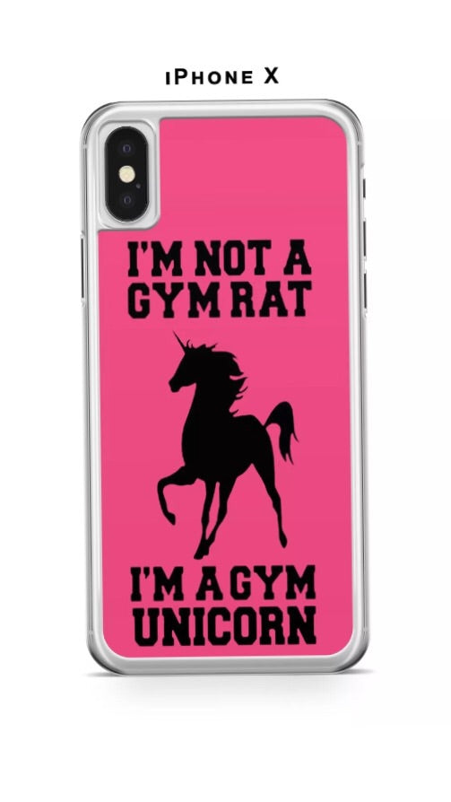 GYM UNICORN PHONE CASE COVER FOR IPFONE X - Selina Bikini