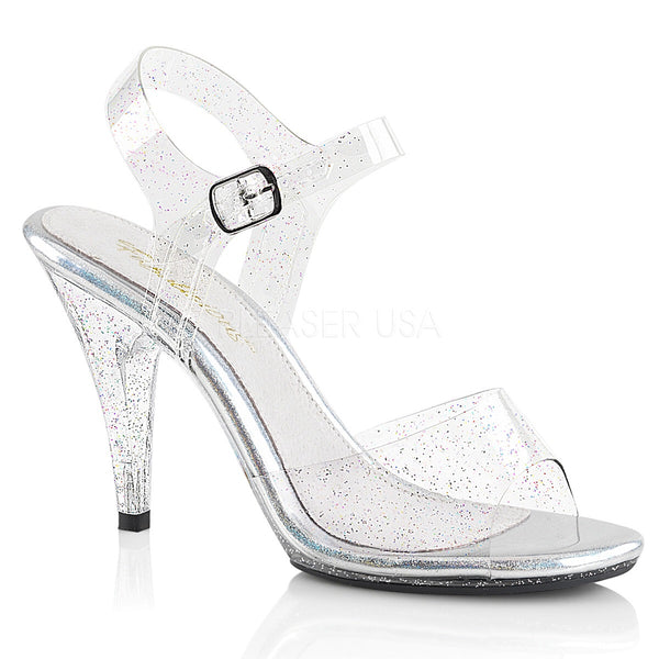 7295a9d9490 PLEASER CARESS 408MMG CLEAR  Glitter HEELS