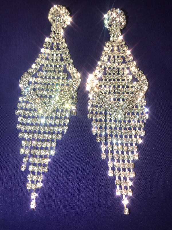 SHANAH LONG CRYSTAL EARRINGS - Selina Bikini