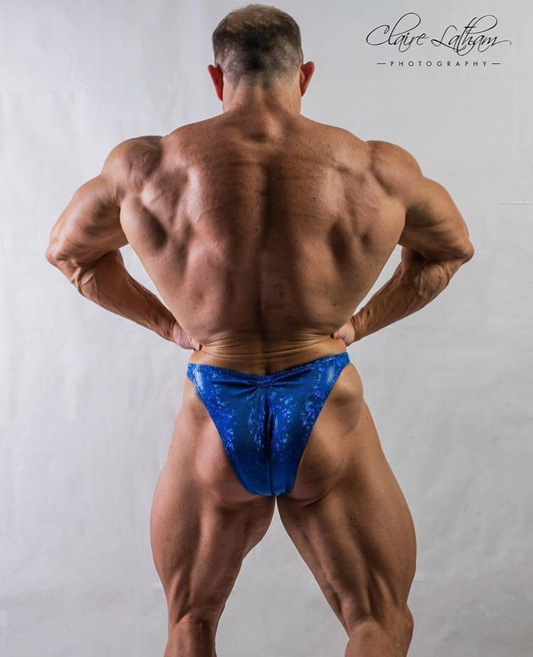 POSEIDON Royal Blue  4-way stretch luxury Spandex  custom men's posing trunks. - Selina Bikini